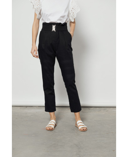 The Clasp Pants-BLACK