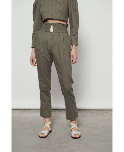 The Clasp Pants-KHAKI