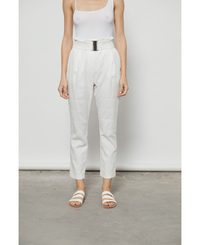 The Clasp Pants-WHITE
