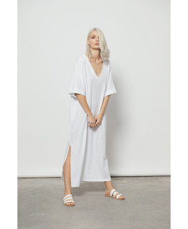 The Ripples Dress-WHITE