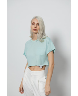 The Easy Crop Top-MINT