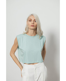 The City Crop Top-MINT