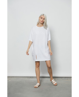 The Swimmer Dress-WHITE