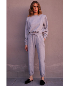 The Track Pants - GREY MELANGE