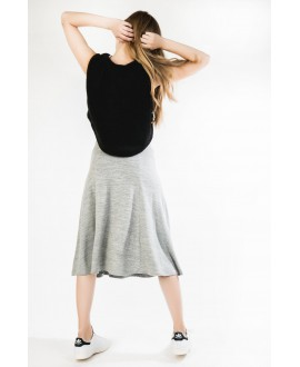 The swirl  grey skirt