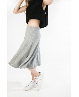 The swirl  grey skirt