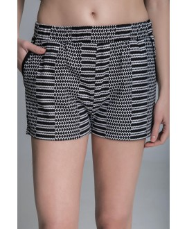 The black and white hot pants.