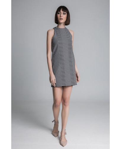 The Jaquard print mini dress