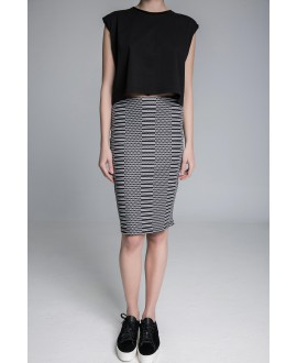The Jaquard midi skirt